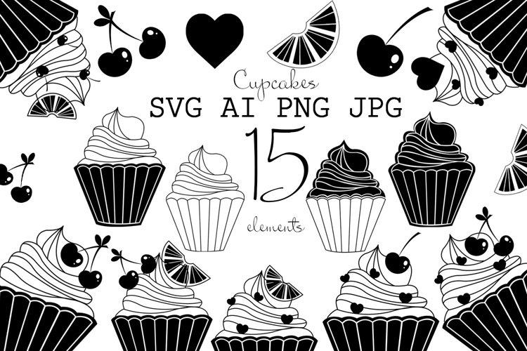 SVG Cupcake, Bakery Logo, Cupcake Icon