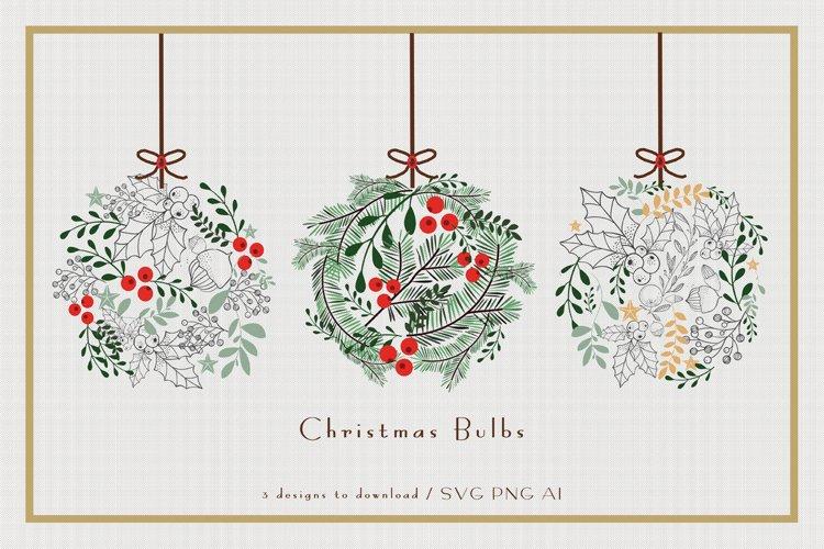Christmas Bulbs - 3 Vector Illustrations