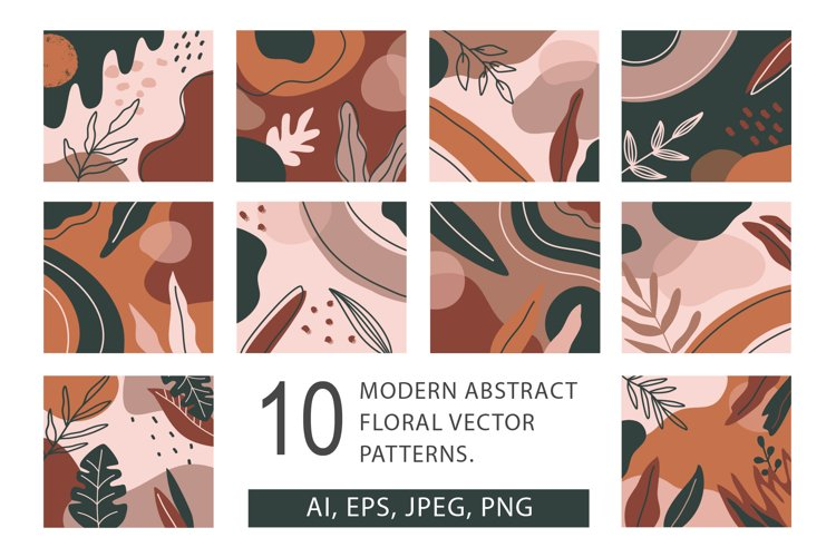 10 abstract vector pattern, 3 seamless pattern example image 1