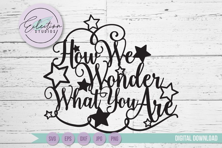 Gender Reveal Cake Topper - How We Wonder What You Are