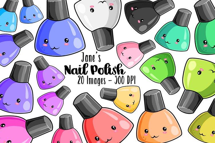 Kawaii Nail Polish Clipart