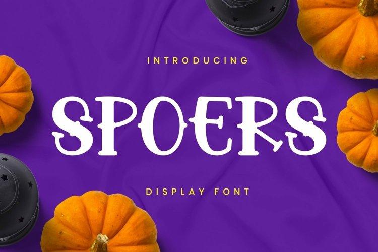 Web Font Spoers Font example image 1