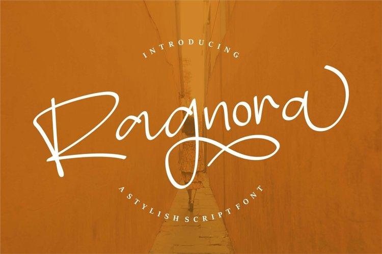 Web Font Ragnora - A Stylish Script Font example image 1