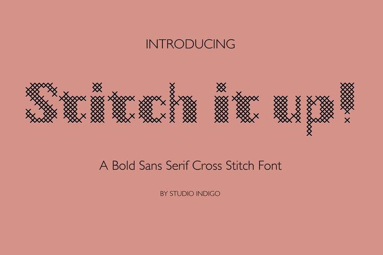 Stitch it up a bold cross-stitch sans serif font example image 1