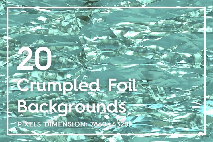 20 Crumpled Foil Background Textures example image 1