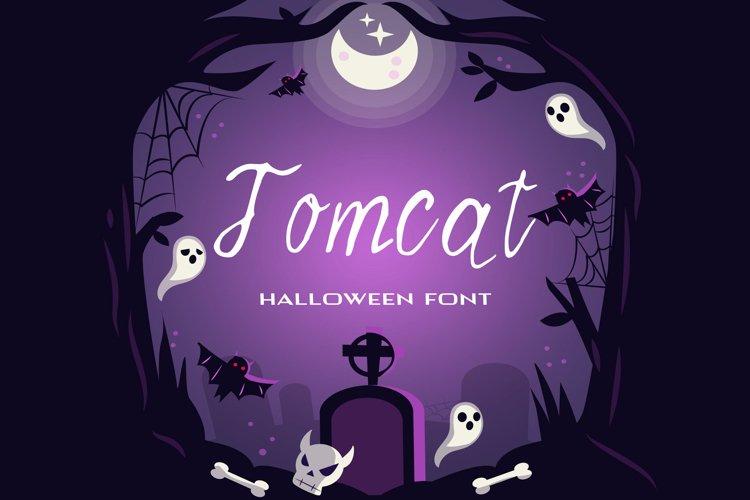 Tomcat Halloween Font example image 1