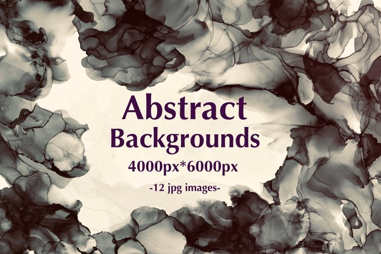 12 Dark Alcohol Ink Backgrounds. example image 1
