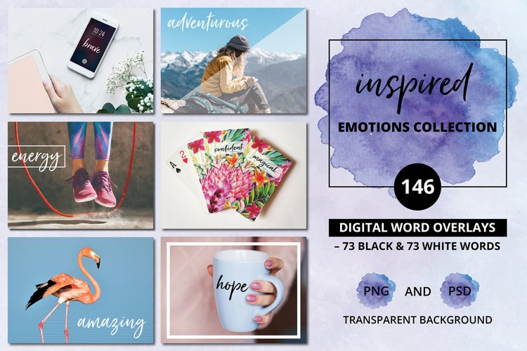 Inspirational Quotes for Social Media - 146 Digital Overlays