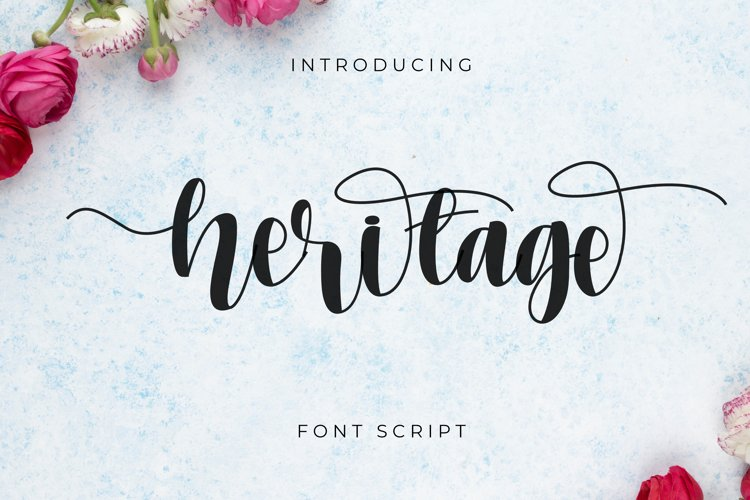 Heritage font script example image 1
