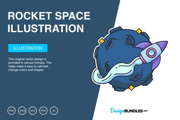 Rocket Space Vector Illustration