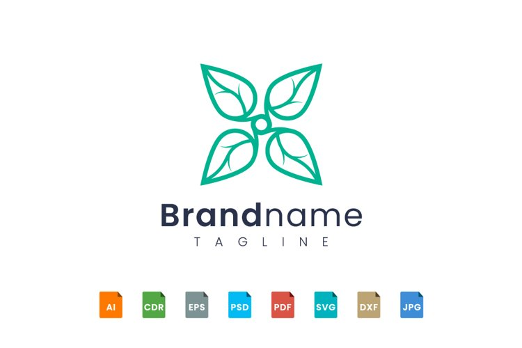 Abstract flower and leaf logo design example image 1