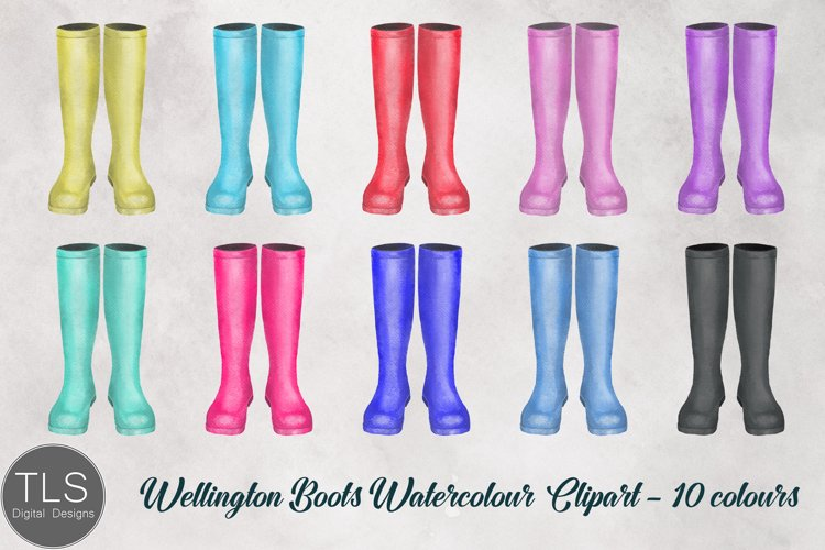 Boots Watercolour Clipart Bundle