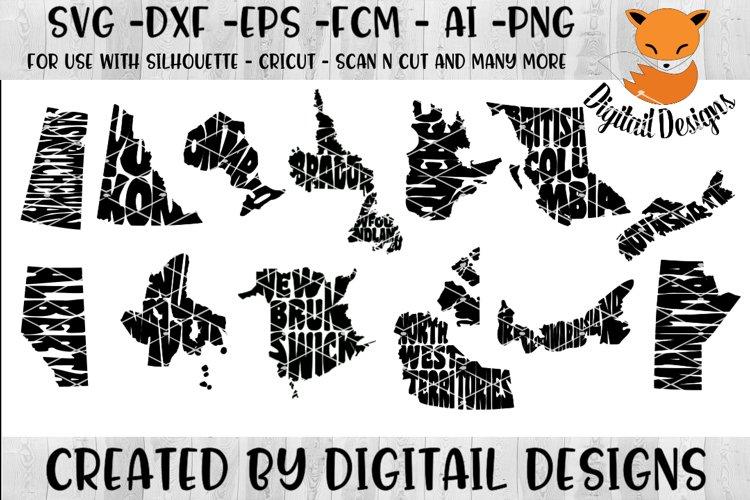 Canadian Province Word Art SVG Bundle example image 1