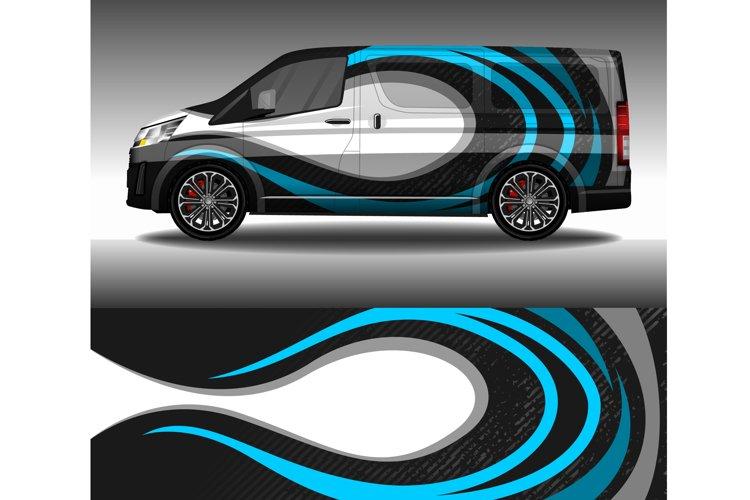 Wrap car decal design vector, custom livery race rally car example image 1