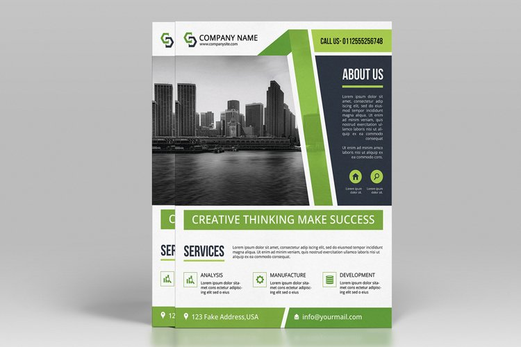 Business Flyer Template, Ms Word & Photoshop Template example image 1