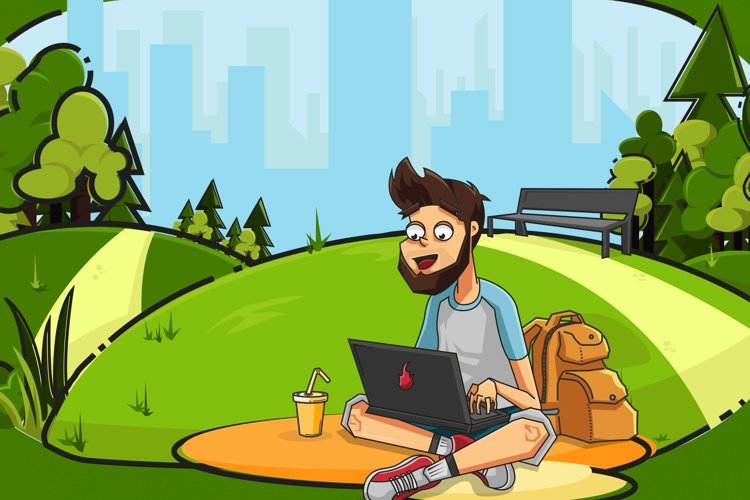 Freelancer in City Park example image 1