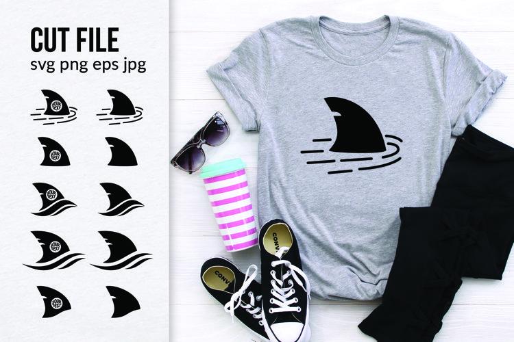 Shark Fin, Monogram SVG, Cut File, Fin Silhouette