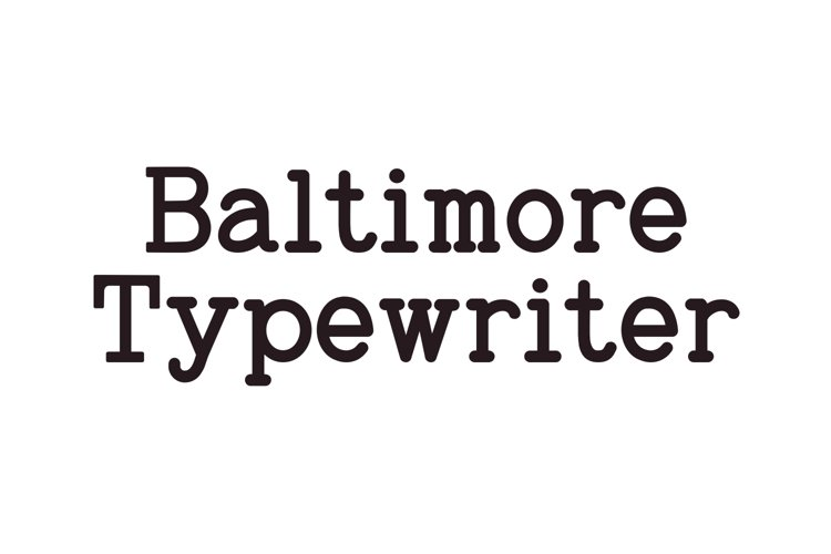 Baltimore Typewriter - SUPER PACK PROMOTION !