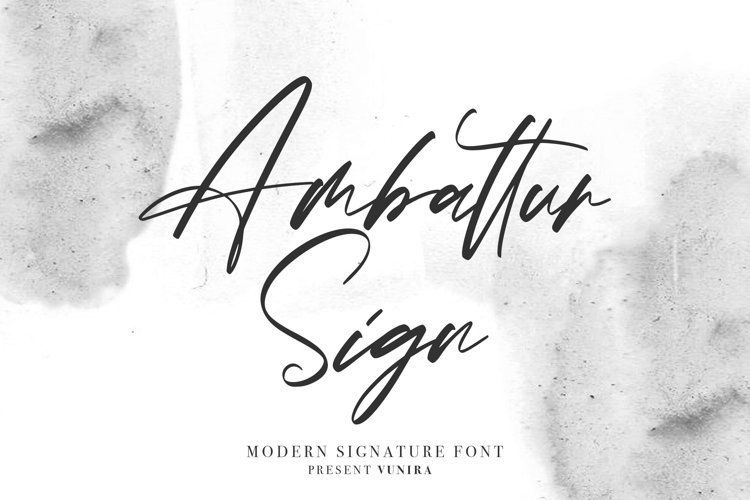 Ambattur Sign   Modern Signature Font example image 1