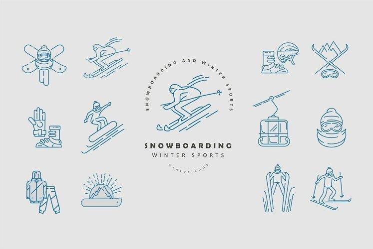 Winter sports icons & logos
