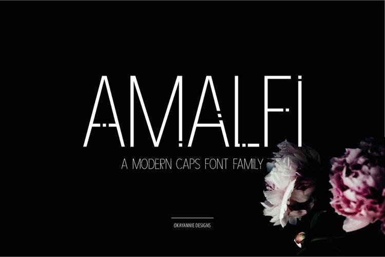 AMALFI - A Modern Font Family