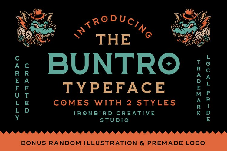 The Buntro Typeface and EXTRA example image 1