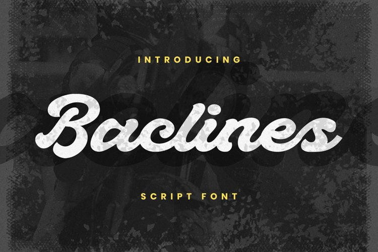 Baclines Font example image 1