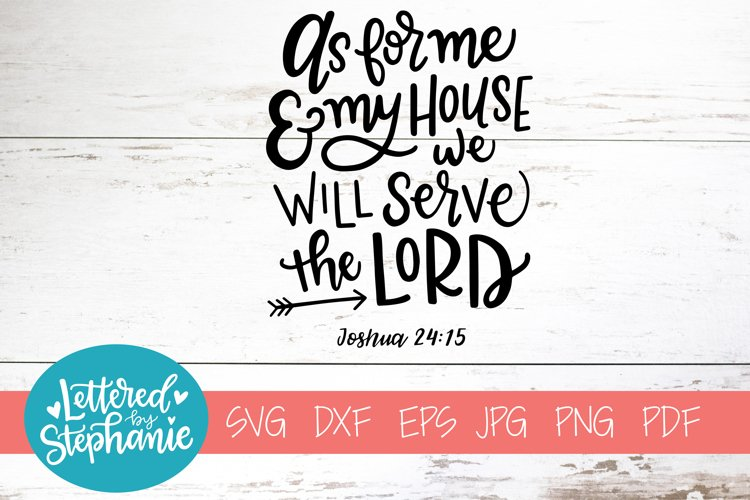 Handlettered SVG DXF, As for me and my house example image 1