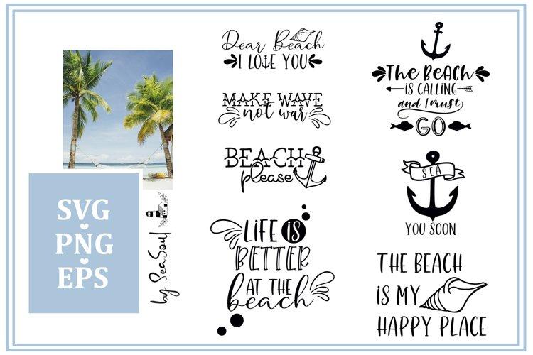 Beach SVG bundle. Beach design, beach sayings. EPS, PNG, SVG