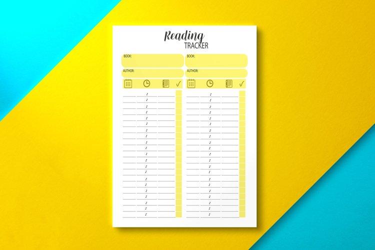Reading Tracker PDF, KDP Interior example image 1