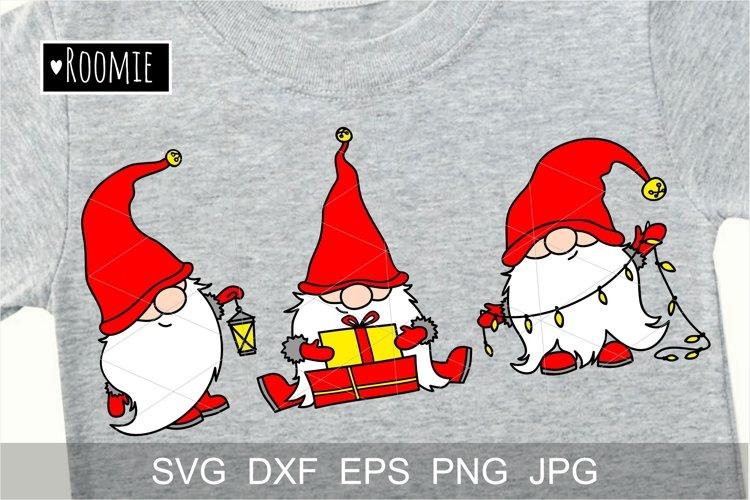Scandinavian Christmas gnomes svg New year Winter Elf vector