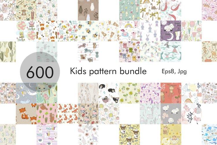 600 Kids pattern Bundle. example image 1