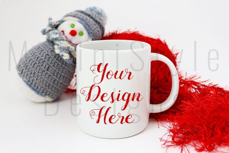 Christmas Mug mockup, Winter Coffee Mug Stock Photo 222