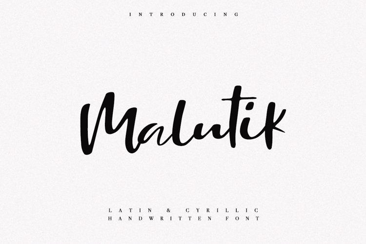 Malutik   Cyrillic   Latin