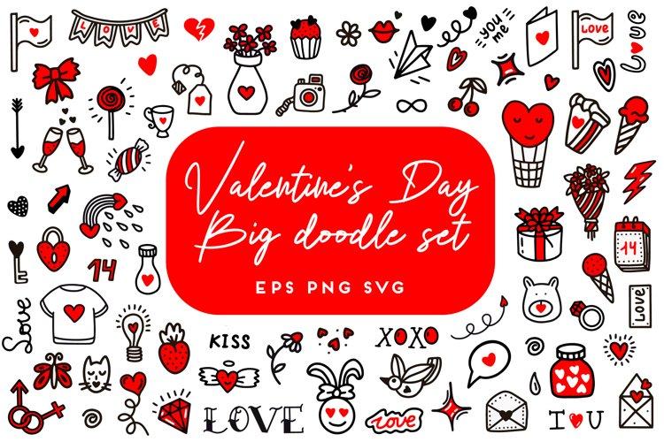 Valentines day doodle set. Valentine SVG. Love bundle