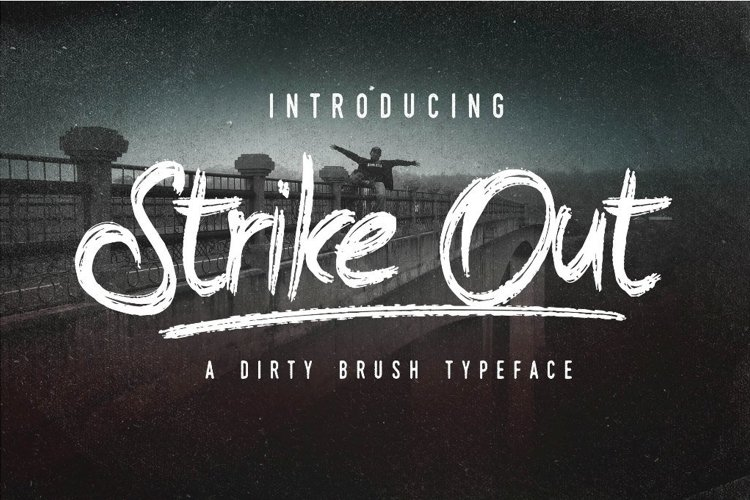 Web Font The Strike Out Typeface example image 1