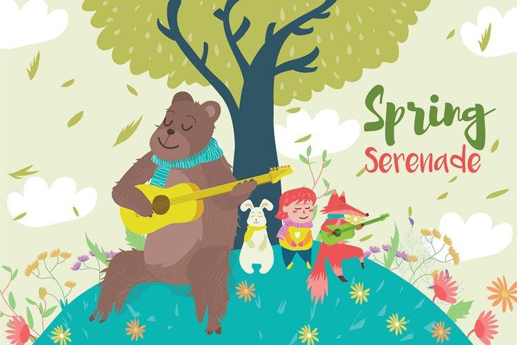 Spring Serenade - Vector Illustration example image 1