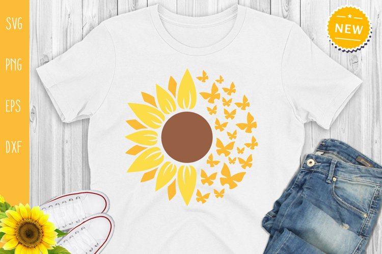 Sunflower Bundle Svg, Sunflower Svg, Sunflower Monogram Svg example 1