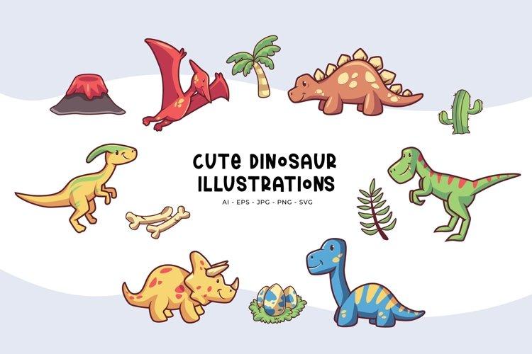 Cute Dinosaur Illustrations