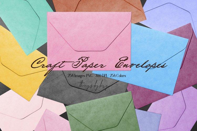 254 Real Craft Paper Vintage Envelope Love Letter Old PNG