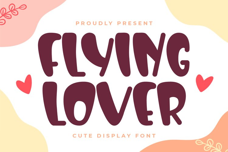 Flying Lover-Cute Display Font example image 1