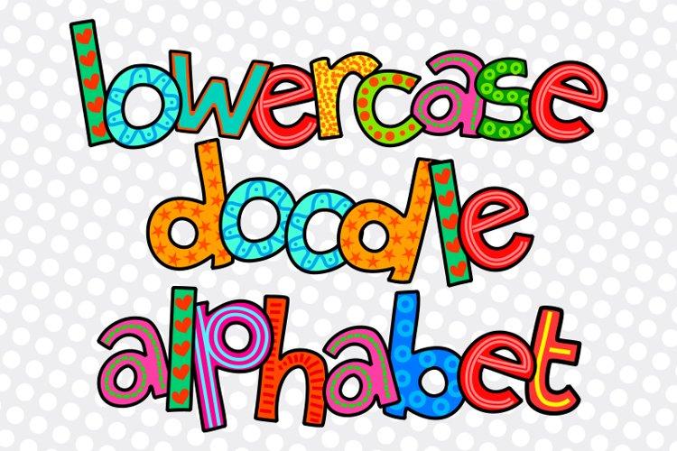 Hand Drawn Lowercase Alphabet Doodle Letters
