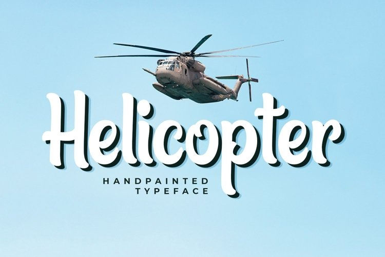 Web Font Helicopter example image 1