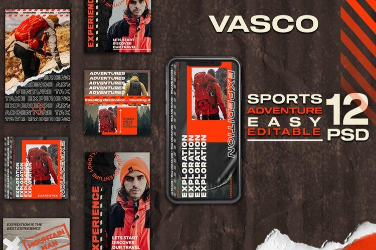 Vasco Outdoor Explore Instagram Stories and Post Templates