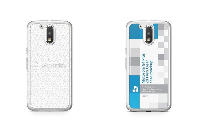 Moto G4 Plus 2d Flexi Clear Case Design Mockup 2016 example image 1