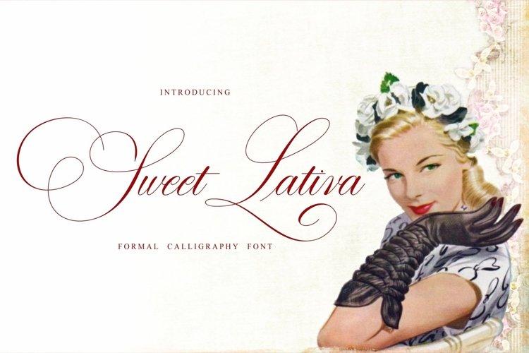 Web Font Sweet Lativa example image 1