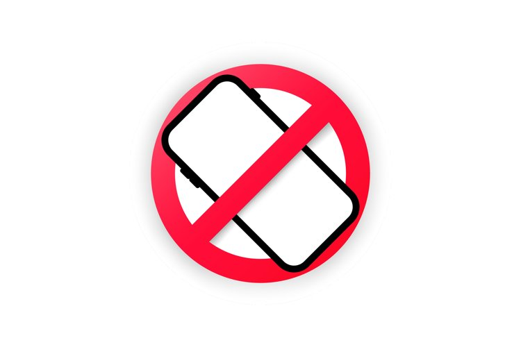No cellphone zone sign in flat modern style design. example image 1