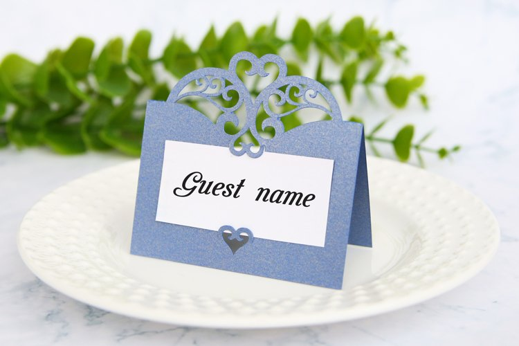 Lace place card template Wedding place card svg