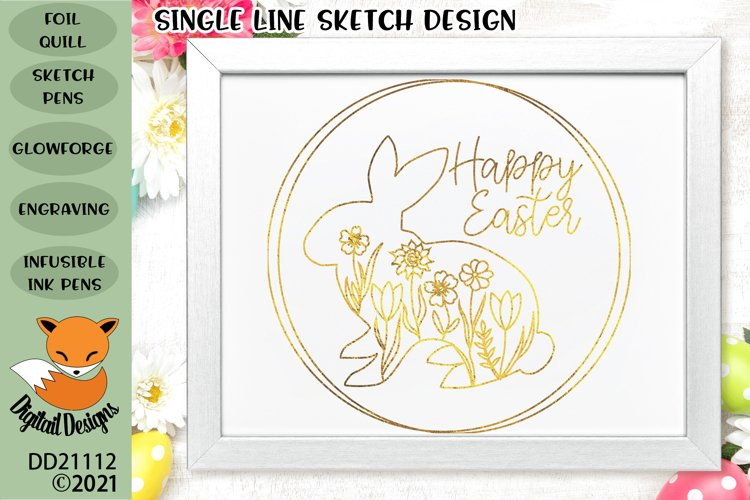 Foil Quill Floral Easter Bunny SVG