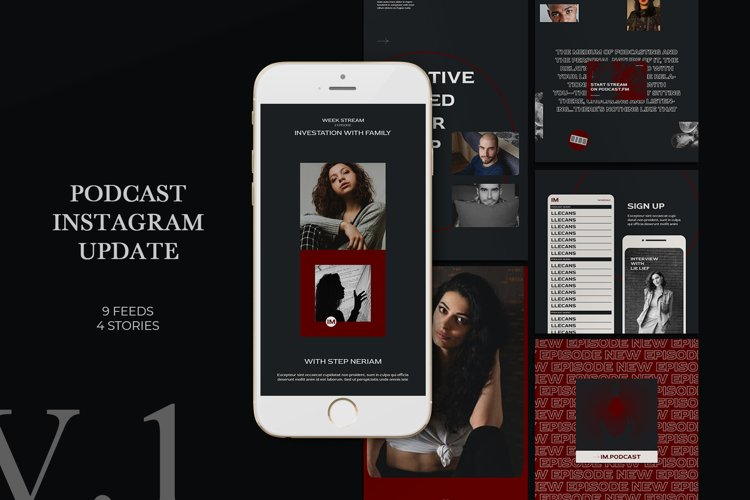 Podcast Instagram Templates example image 1